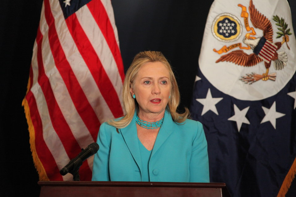 Secretary Clinton Addresses Burmese Press