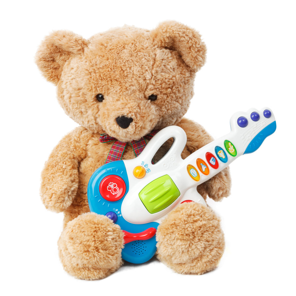 Teddy bear with a guitar