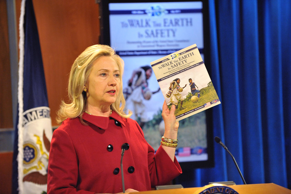 Secretary Clinton Delivers Remarks at Release of 10th Edition of 'To Walk the Earth in Safety' Report
