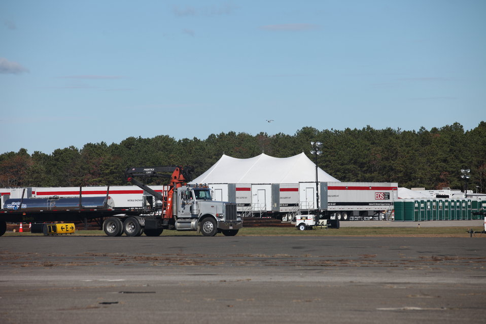 FEMA staging area on Long Island (NY)