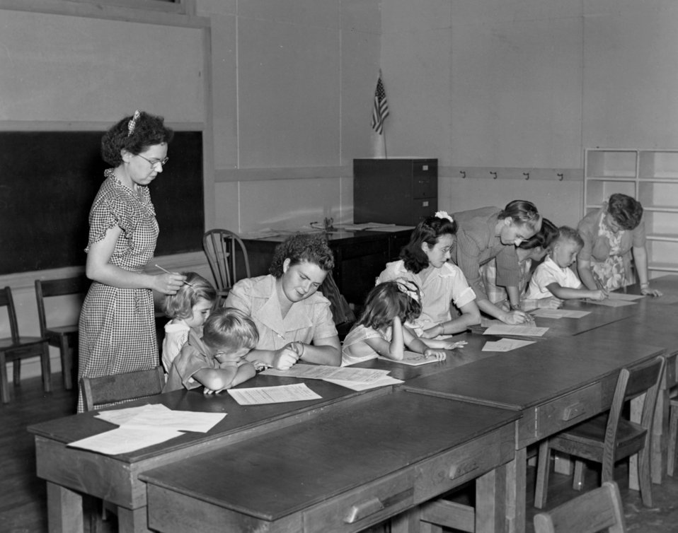 School Registeration Wheat School Oak Ridge 1944