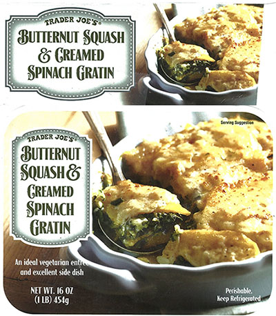 RECALLED - Butternut Squash and Creamed Spinach Gratin