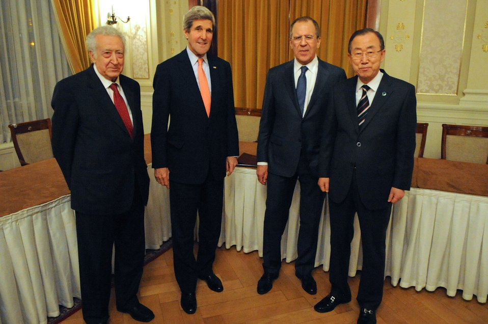 Secretary Kerry, Russian Foreign Minister Lavrov Meet With UN Secretary-General Ban, UN Special Representative Brahimi