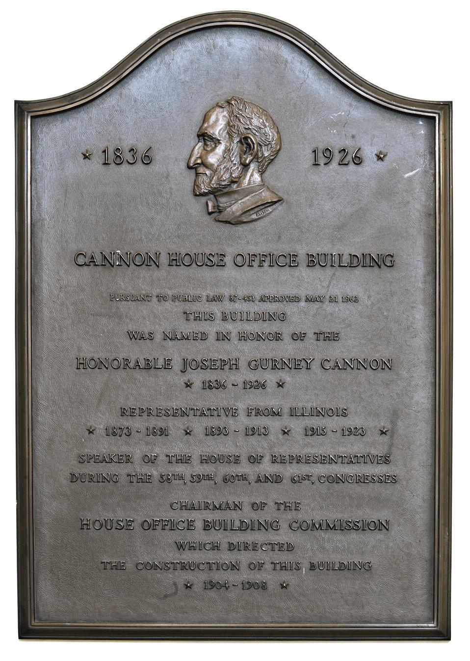 Cannon House Office Building Plaque