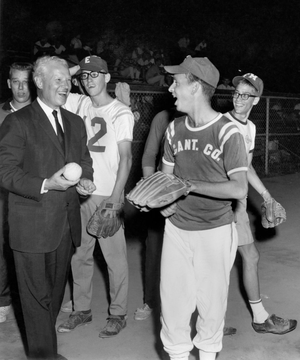 SINB Conference Softball Game Sen. Albert Gore, Sr. Oak Ridge 1965