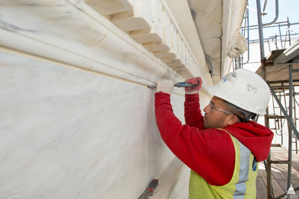 Making Repairs to Supreme Court Facade