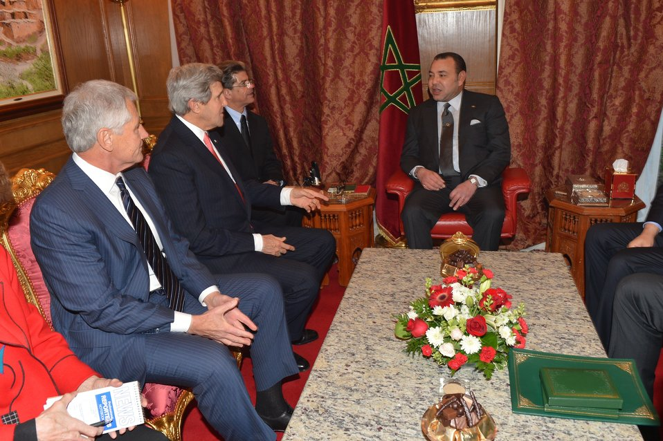 Secretaries Kerry, Hagel Meet With King Mohammed VI of Morocco