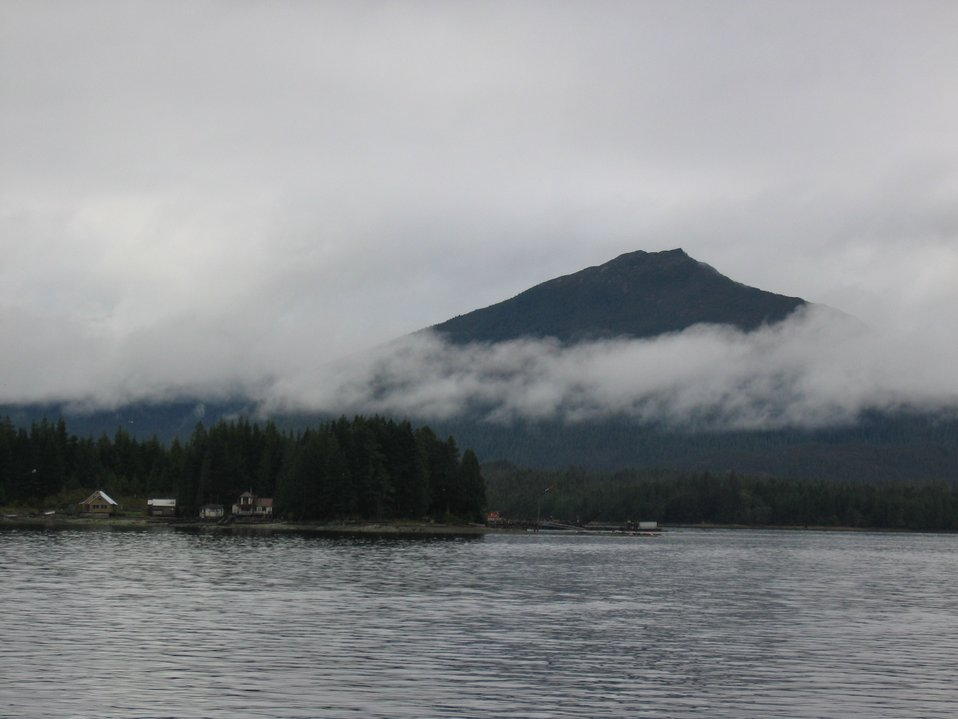 Mountains in the mist at Ketchikan.