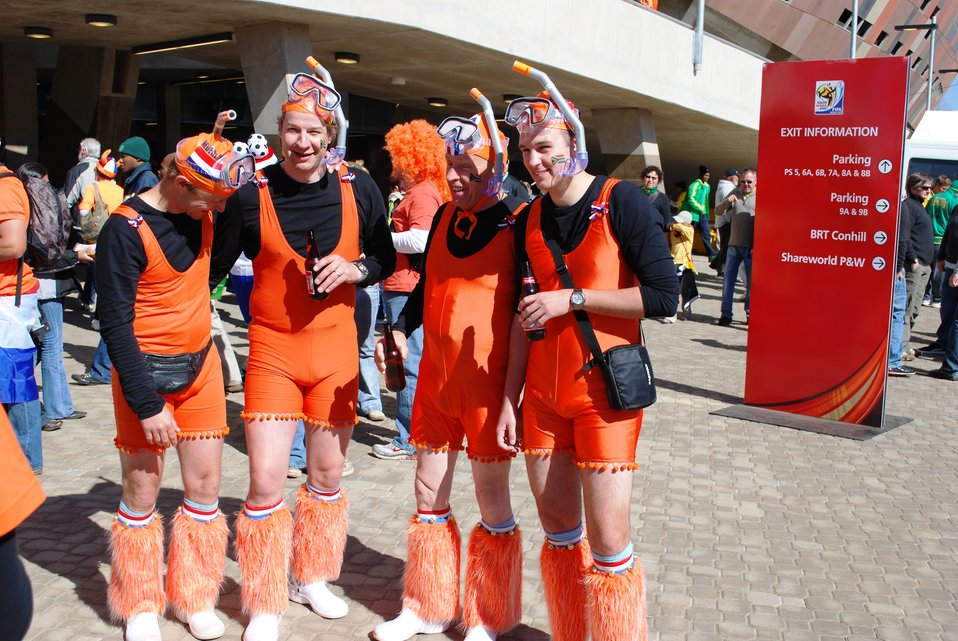 Dutch Fans Show Their Pride