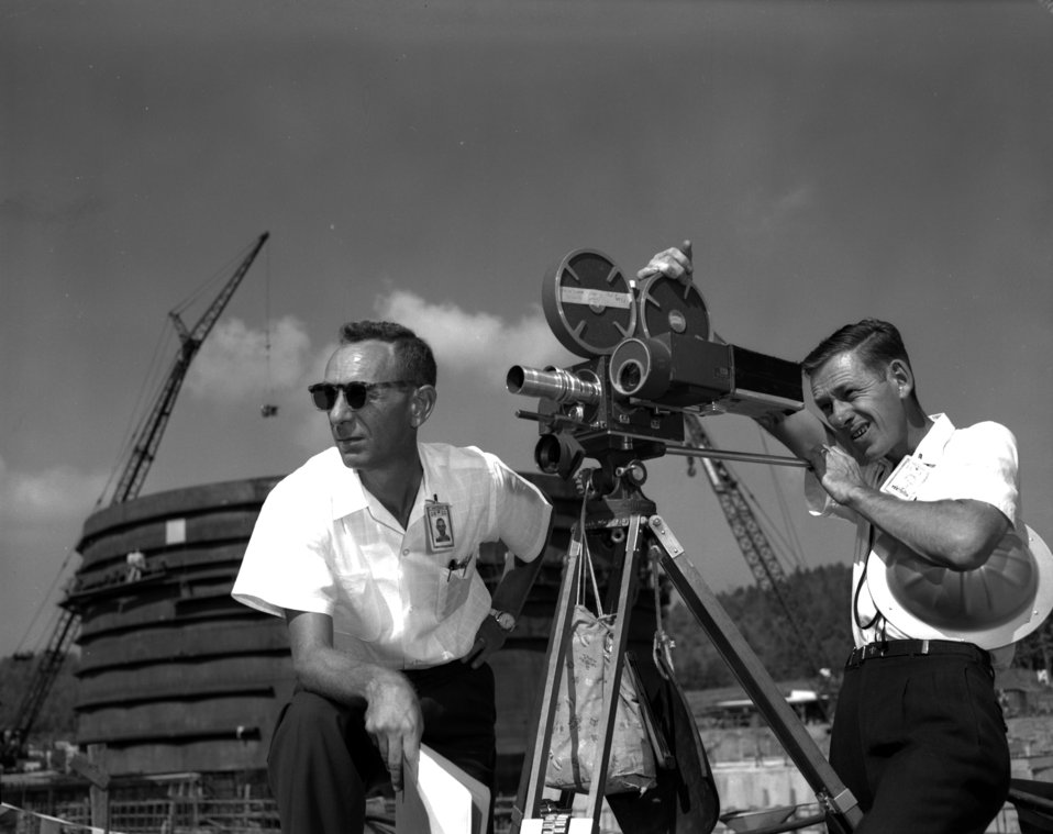 J.E. Westcott and E.E. Stokely at EGCR  Oak Ridge