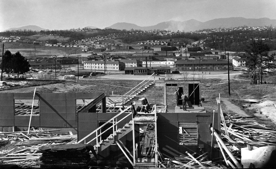Dormitory 'S' Type Washington Group Being Removed Oak Ridge 1948
