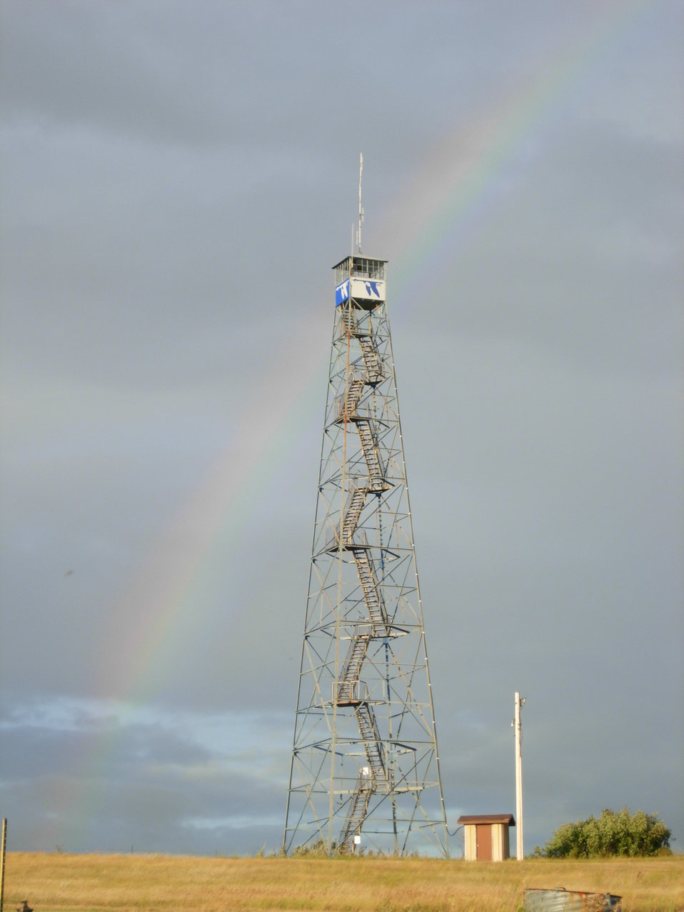 Fire Tower and Rainbow