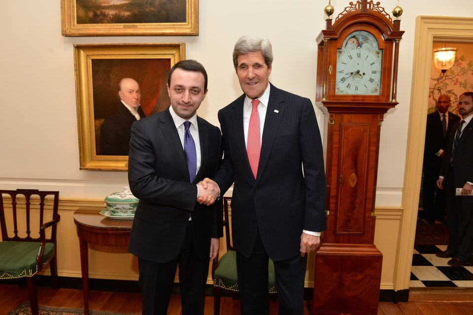 Secretary Kerry Meets With Georgian Prime Minister Garibashvili