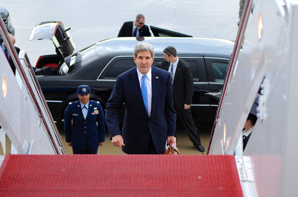 Secretary Kerry Sets Out On 11-Day Trip