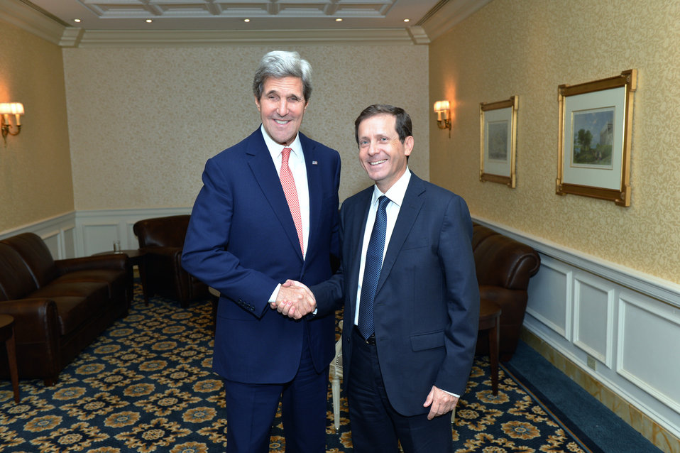 Secretary Kerry Meets With Israeli Opposition Leader Herzog