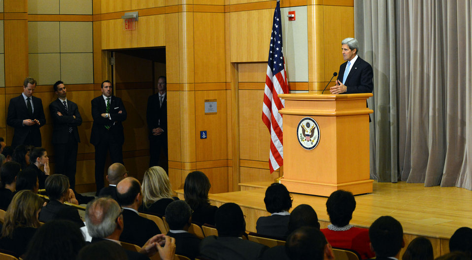 Secretary Kerry Delivers Remarks at the DC Greening Embassies Forum
