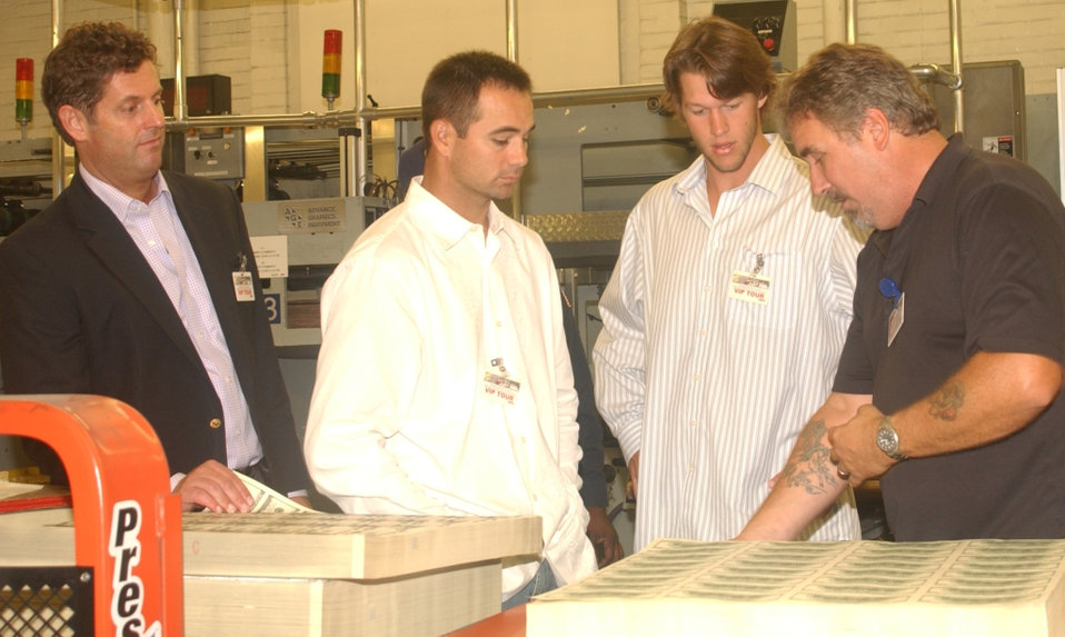 LA Dodgers Visit the Bureau of Engraving and Printing