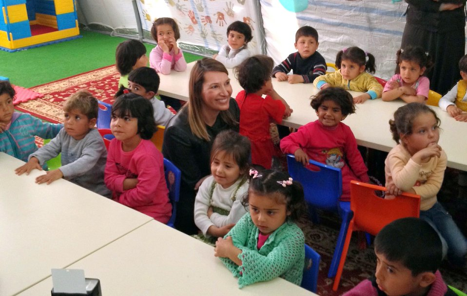 Deputy Secretary Higginbottom Speaks With Syrian Refugee Children