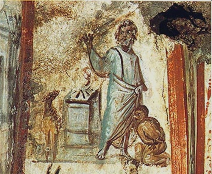 Father Abraham slaying his son Isaac