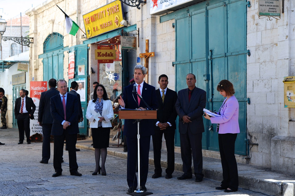 Secretary Kerry Celebrates High-Impact, Micro-Infrastructure Work During a Visit to the West Bank