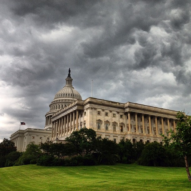 Storms approaching #dc this morning.