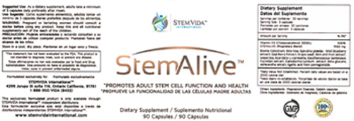 RECALLED – StemAlive 90 Capsules