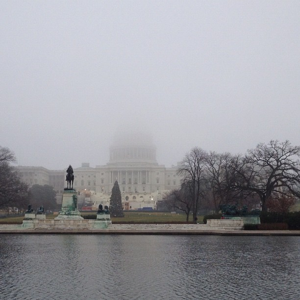 Disappearing Dome on a foggy #dc morning.