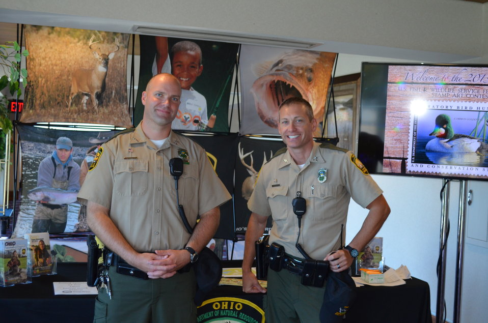 Ohio DNR Division of Wildlife law enforcement officials were on hand to talk with the public about wildlife conservation.