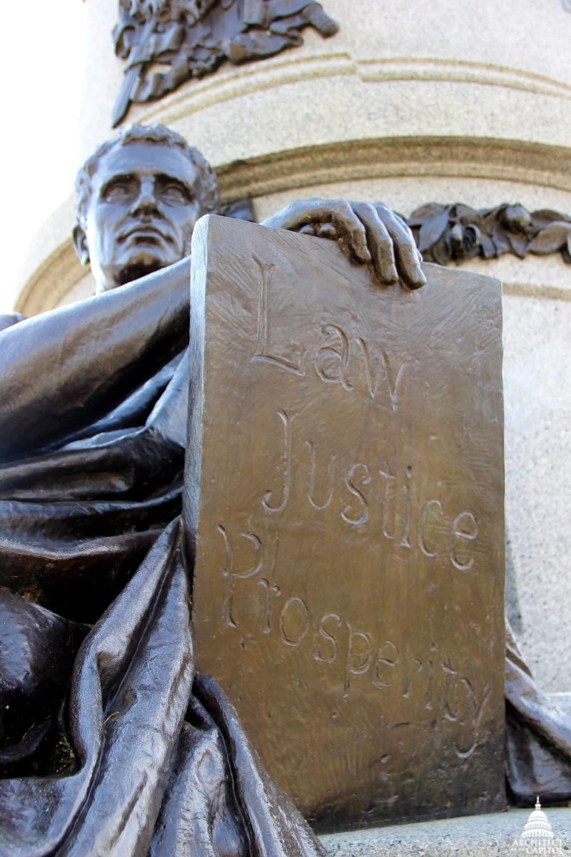 Statesman Figure on Garfield Monument