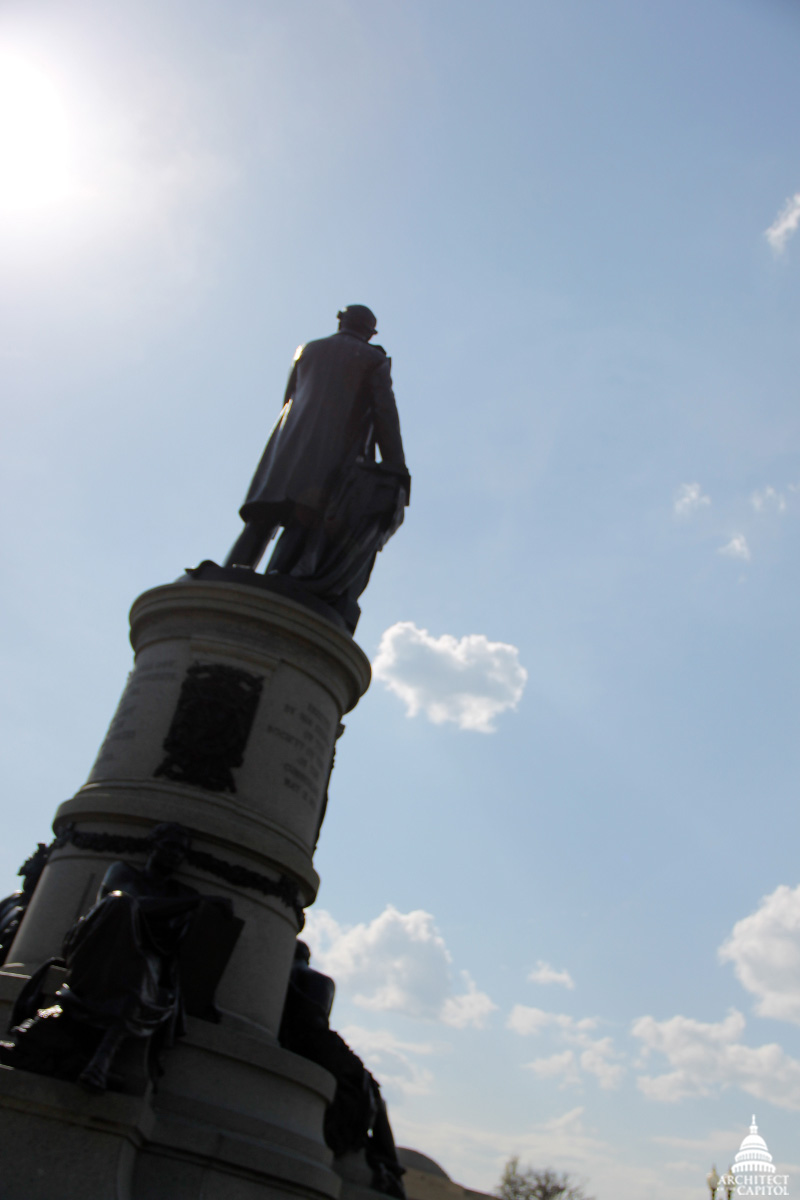Back of Garfield Monument