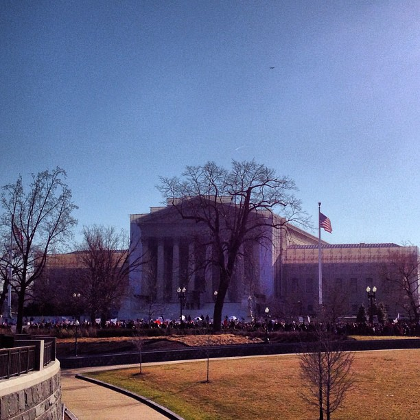 Supreme Court viewed from the Capitol on March 26, 2013