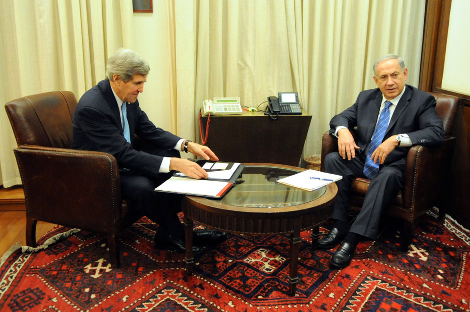Secretary Kerry, Israeli Prime Minister Netanyahu Sit for a One-on-One Discussion