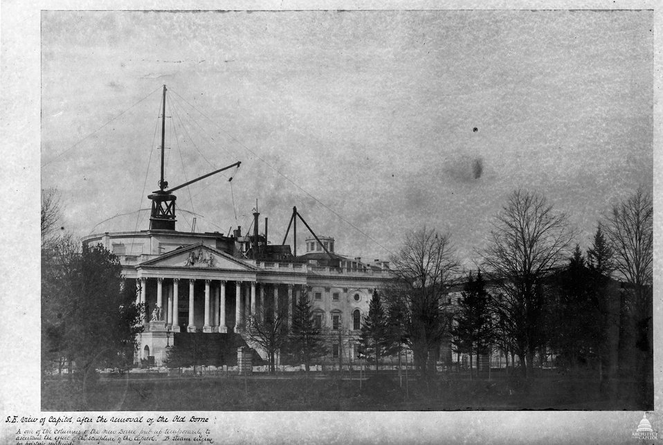 East Front of the Capitol in 1856