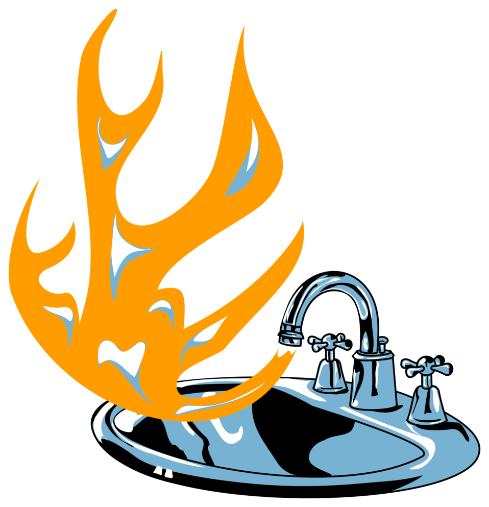 flaming sink