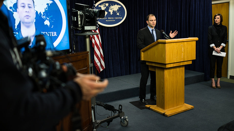 Deputy National Security Advisor Rhodes Addresses Reporters