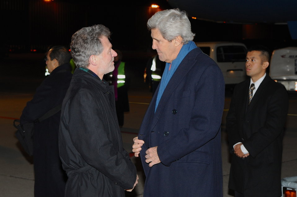 Secretary Kerry Arrives in Switzerland Ahead of Montreux, Davos Visits