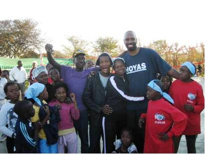 U.S. Embassy Pretoria Political Officer Freeman With South African Children