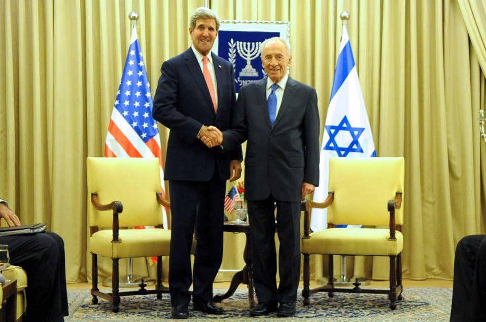 Secretary Kerry and Israeli President Peres Meet In Jerusalem