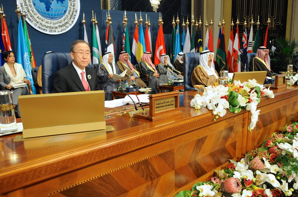 U.N. Secretary-General, Kuwaiti Amir Preside Over Syrian Donors' Conference