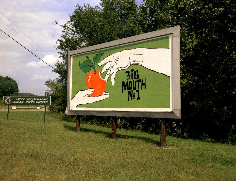 Security Sign at Elsa Gate Big Mouth # 1