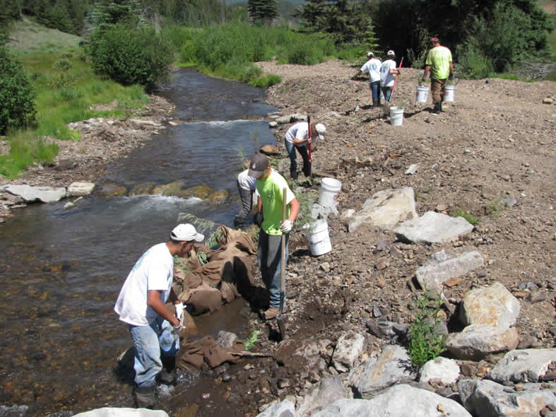 Youth Conservation Corps Work on Kerber Creek