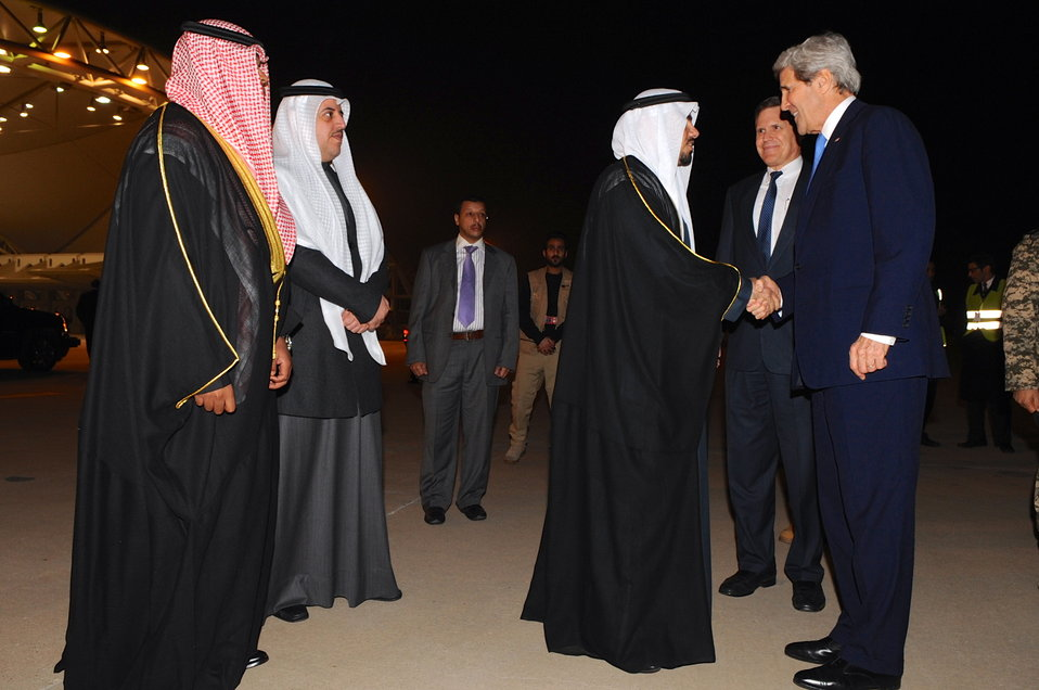 Secretary Kerry Arrives in Kuwait for Syria Donors' Conference