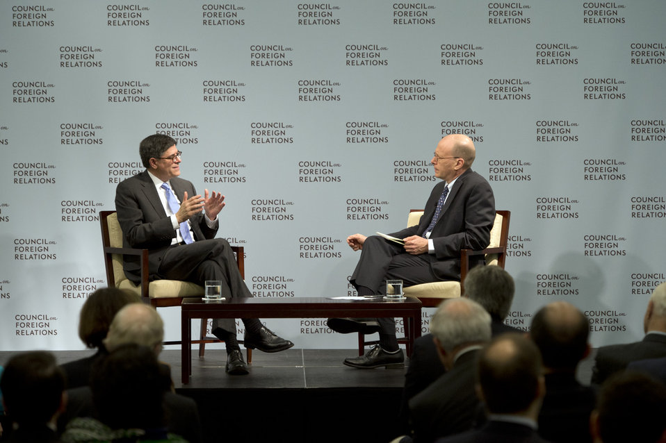 Secretary Lew at Council on Foreign Relations
