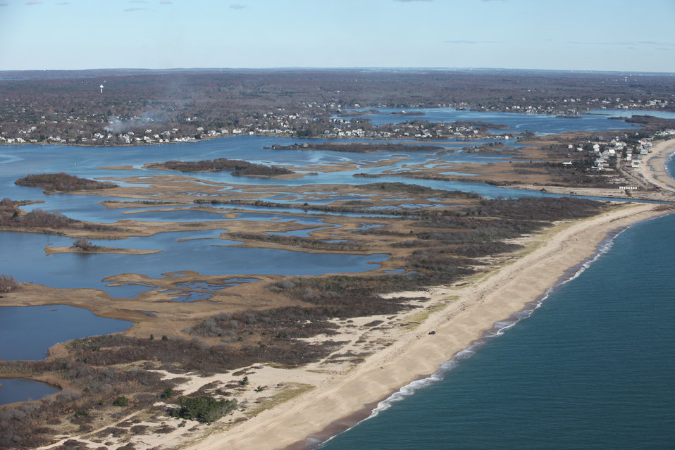 Aerial view of Ninigret National Wildlife Refuge (RI)