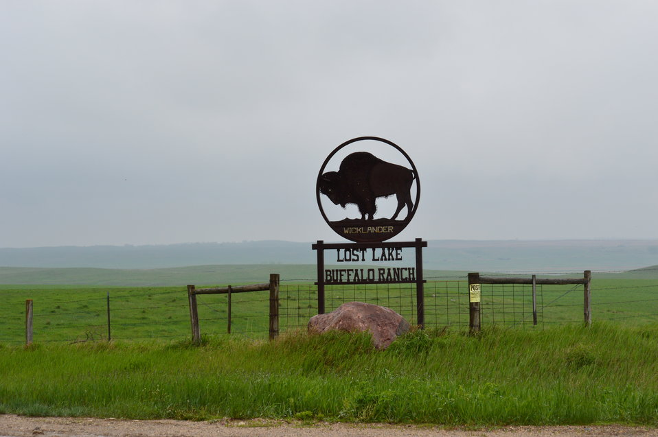Lost Lake Buffalo Ranch sign