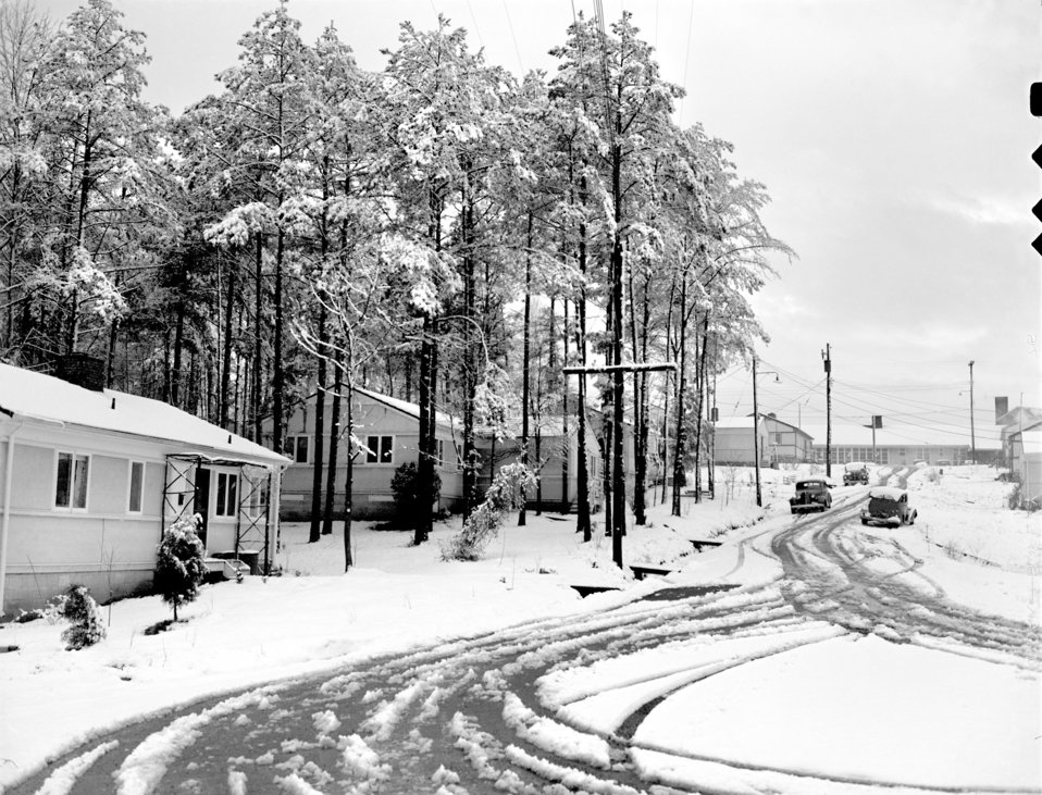 Snow Scenes Oak Ridge 1947