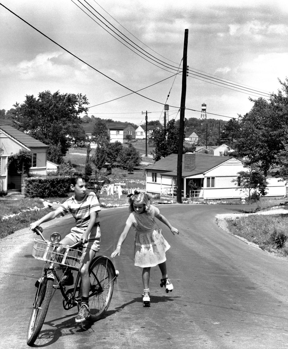 Children at Play on the Street in Oak Ridge 1948