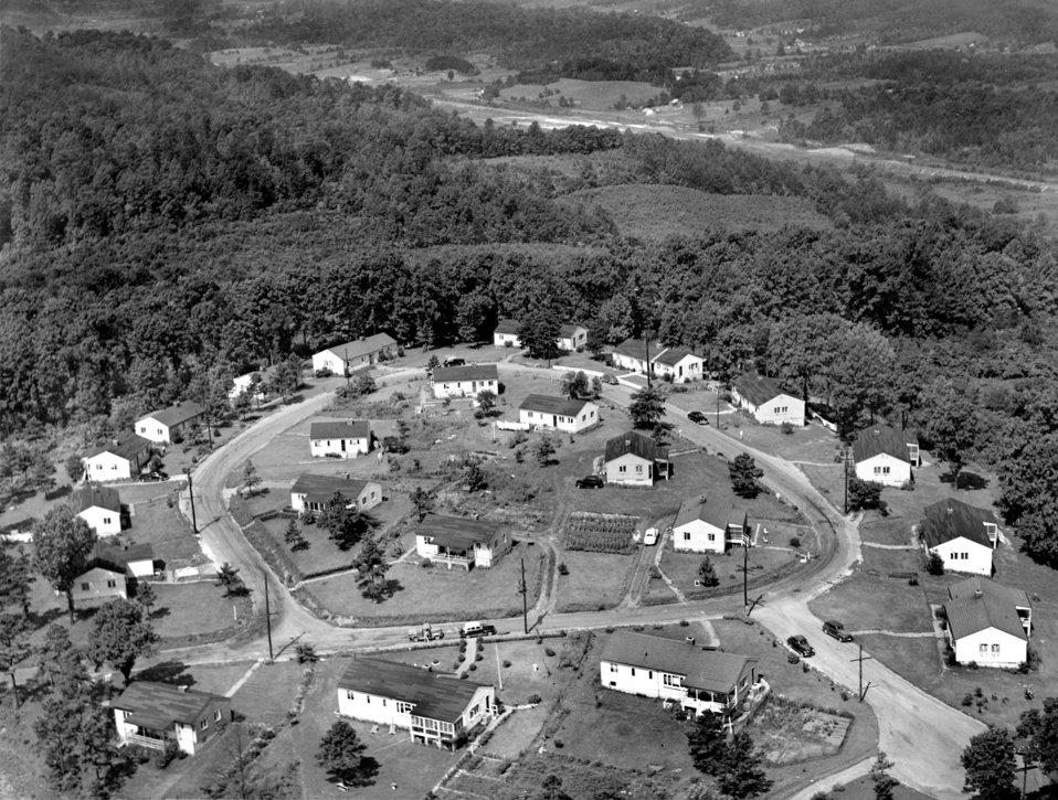 Air View Ogden Circle Homes 1948 Oak Ridge