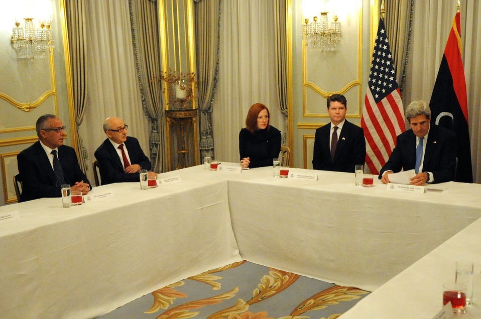 Secretary Kerry, UK Foreign Secretary Hague Meet With Libyan Prime Minister Ziedan