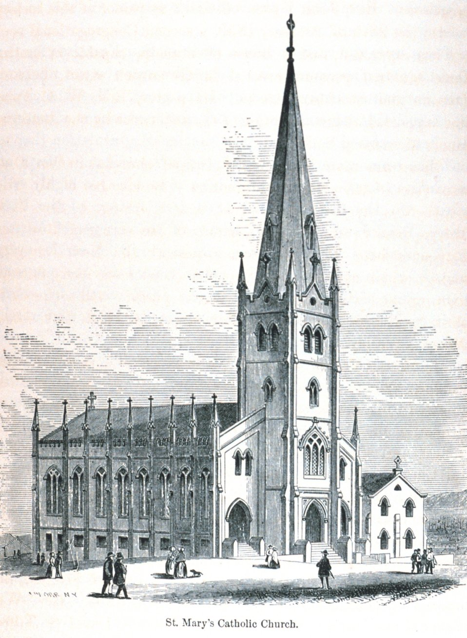 St. Mary's Catholic Church. In: 'The Annals of San Francisco'.  Frank Soule, John Gihon, and James Nesbit.  1855.  Page 698.  D. Appleton & Company, New York.  F869.S3.S7 1855.
